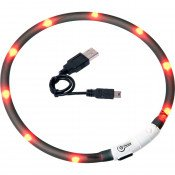 VISIO LIGHT LED HALSBAND ZWART 70CM